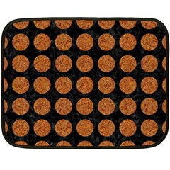 CIRCLES1 BLACK MARBLE & RUSTED METAL (R) Double Sided Fleece Blanket (Mini)