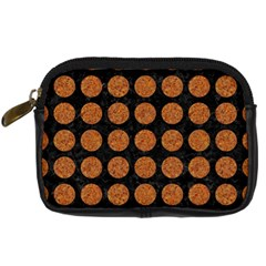 CIRCLES1 BLACK MARBLE & RUSTED METAL (R) Digital Camera Cases