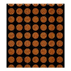 CIRCLES1 BLACK MARBLE & RUSTED METAL (R) Shower Curtain 66  x 72  (Large)