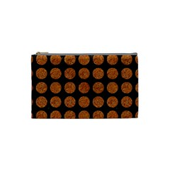 Circles1 Black Marble & Rusted Metal (r) Cosmetic Bag (small)