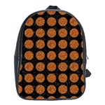 CIRCLES1 BLACK MARBLE & RUSTED METAL (R) School Bag (Large) Front