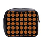 CIRCLES1 BLACK MARBLE & RUSTED METAL (R) Mini Toiletries Bag 2-Side Back