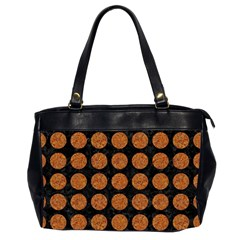 CIRCLES1 BLACK MARBLE & RUSTED METAL (R) Office Handbags (2 Sides)