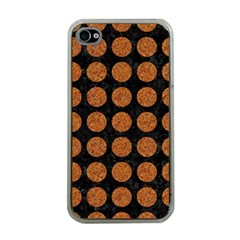 Circles1 Black Marble & Rusted Metal (r) Apple Iphone 4 Case (clear) by trendistuff