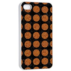 Circles1 Black Marble & Rusted Metal (r) Apple Iphone 4/4s Seamless Case (white) by trendistuff