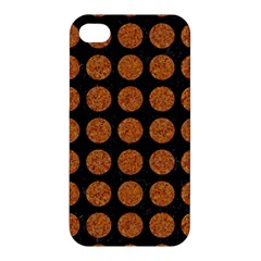 CIRCLES1 BLACK MARBLE & RUSTED METAL (R) Apple iPhone 4/4S Hardshell Case