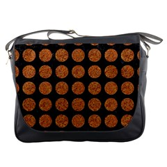 Circles1 Black Marble & Rusted Metal (r) Messenger Bags