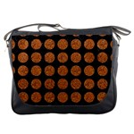 CIRCLES1 BLACK MARBLE & RUSTED METAL (R) Messenger Bags Front