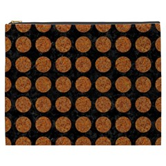 Circles1 Black Marble & Rusted Metal (r) Cosmetic Bag (xxxl)  by trendistuff