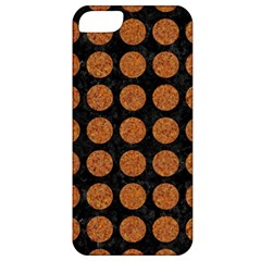 CIRCLES1 BLACK MARBLE & RUSTED METAL (R) Apple iPhone 5 Classic Hardshell Case