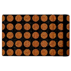 Circles1 Black Marble & Rusted Metal (r) Apple Ipad 2 Flip Case by trendistuff