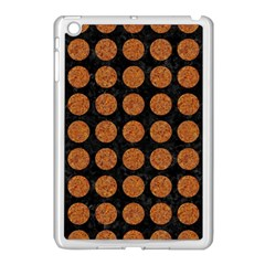 Circles1 Black Marble & Rusted Metal (r) Apple Ipad Mini Case (white) by trendistuff