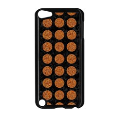 CIRCLES1 BLACK MARBLE & RUSTED METAL (R) Apple iPod Touch 5 Case (Black)