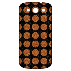 CIRCLES1 BLACK MARBLE & RUSTED METAL (R) Samsung Galaxy S3 S III Classic Hardshell Back Case