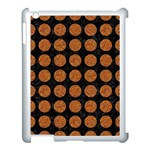 CIRCLES1 BLACK MARBLE & RUSTED METAL (R) Apple iPad 3/4 Case (White) Front