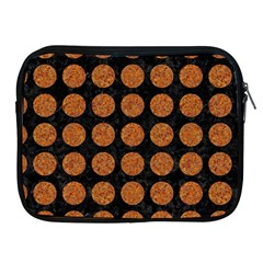 CIRCLES1 BLACK MARBLE & RUSTED METAL (R) Apple iPad 2/3/4 Zipper Cases