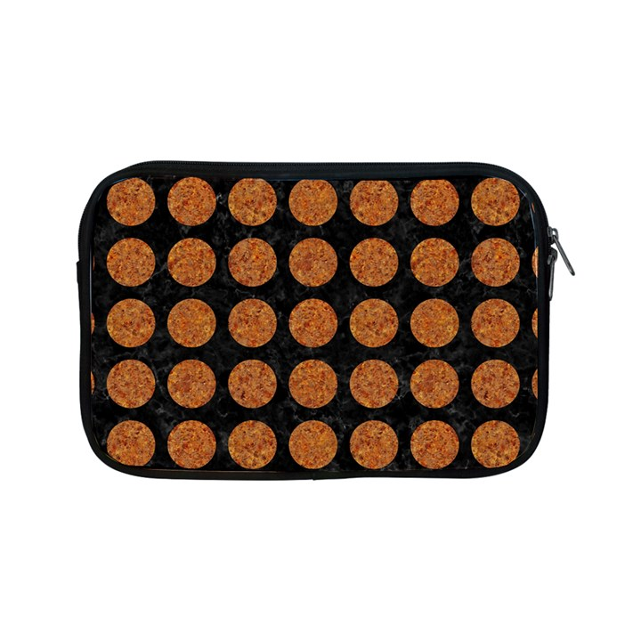 CIRCLES1 BLACK MARBLE & RUSTED METAL (R) Apple iPad Mini Zipper Cases