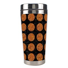 CIRCLES1 BLACK MARBLE & RUSTED METAL (R) Stainless Steel Travel Tumblers