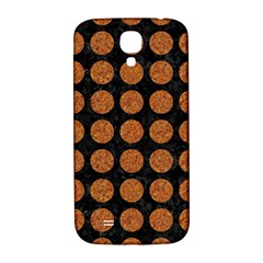 CIRCLES1 BLACK MARBLE & RUSTED METAL (R) Samsung Galaxy S4 I9500/I9505  Hardshell Back Case
