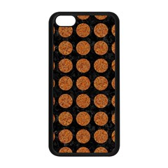 CIRCLES1 BLACK MARBLE & RUSTED METAL (R) Apple iPhone 5C Seamless Case (Black)