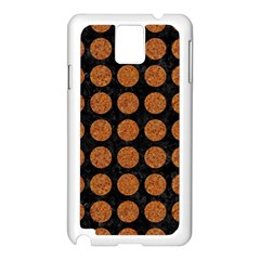 CIRCLES1 BLACK MARBLE & RUSTED METAL (R) Samsung Galaxy Note 3 N9005 Case (White)