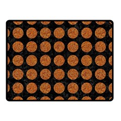 Circles1 Black Marble & Rusted Metal (r) Double Sided Fleece Blanket (small)  by trendistuff