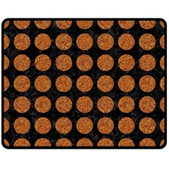 CIRCLES1 BLACK MARBLE & RUSTED METAL (R) Double Sided Fleece Blanket (Medium)