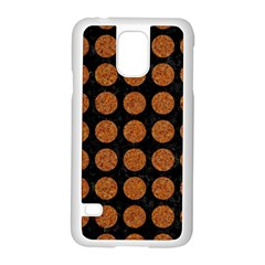 CIRCLES1 BLACK MARBLE & RUSTED METAL (R) Samsung Galaxy S5 Case (White)