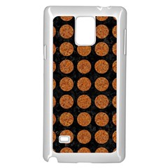 CIRCLES1 BLACK MARBLE & RUSTED METAL (R) Samsung Galaxy Note 4 Case (White)