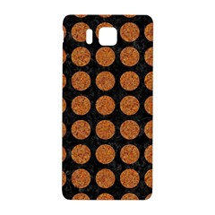 CIRCLES1 BLACK MARBLE & RUSTED METAL (R) Samsung Galaxy Alpha Hardshell Back Case