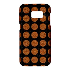 CIRCLES1 BLACK MARBLE & RUSTED METAL (R) Samsung Galaxy S7 Hardshell Case
