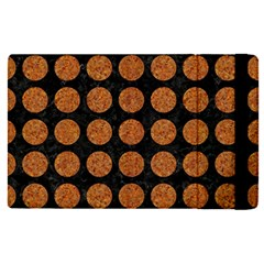 Circles1 Black Marble & Rusted Metal (r) Apple Ipad Pro 12 9   Flip Case by trendistuff