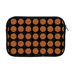 Circles1 Black Marble & Rusted Metal (r) Apple Macbook Pro 17  Zipper Case
