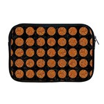 CIRCLES1 BLACK MARBLE & RUSTED METAL (R) Apple MacBook Pro 17  Zipper Case Front