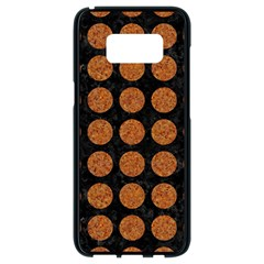 Circles1 Black Marble & Rusted Metal (r) Samsung Galaxy S8 Black Seamless Case