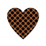 CIRCLES2 BLACK MARBLE & RUSTED METAL Heart Magnet Front