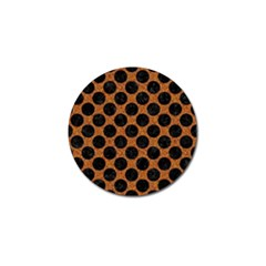 Circles2 Black Marble & Rusted Metal Golf Ball Marker by trendistuff