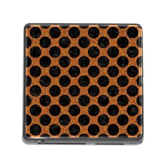 Circles2 Black Marble & Rusted Metal Memory Card Reader (square) by trendistuff