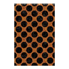 Circles2 Black Marble & Rusted Metal Shower Curtain 48  X 72  (small)  by trendistuff