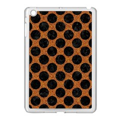 Circles2 Black Marble & Rusted Metal Apple Ipad Mini Case (white) by trendistuff