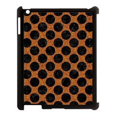 Circles2 Black Marble & Rusted Metal Apple Ipad 3/4 Case (black) by trendistuff