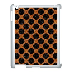 Circles2 Black Marble & Rusted Metal Apple Ipad 3/4 Case (white) by trendistuff