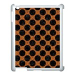 CIRCLES2 BLACK MARBLE & RUSTED METAL Apple iPad 3/4 Case (White) Front