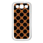 CIRCLES2 BLACK MARBLE & RUSTED METAL Samsung Galaxy S3 Back Case (White) Front