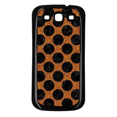 Circles2 Black Marble & Rusted Metal Samsung Galaxy S3 Back Case (black) by trendistuff