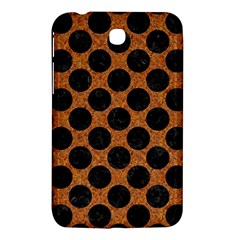 Circles2 Black Marble & Rusted Metal Samsung Galaxy Tab 3 (7 ) P3200 Hardshell Case  by trendistuff