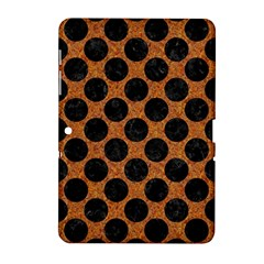 Circles2 Black Marble & Rusted Metal Samsung Galaxy Tab 2 (10 1 ) P5100 Hardshell Case  by trendistuff
