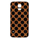 CIRCLES2 BLACK MARBLE & RUSTED METAL Samsung Galaxy S5 Back Case (White) Front