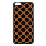 CIRCLES2 BLACK MARBLE & RUSTED METAL Apple iPhone 6 Plus/6S Plus Black Enamel Case Front