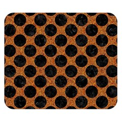 Circles2 Black Marble & Rusted Metal Double Sided Flano Blanket (small)  by trendistuff